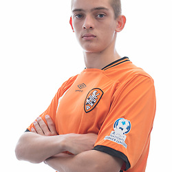 BRISBANE, AUSTRALIA - MARCH 17: Emlyn Wellsmore poses for a photo during the Brisbane Roar Youth headshot session at QUT Kelvin Grove on March 17, 2017 in Brisbane, Australia. (Photo by Patrick Kearney/Brisbane Roar)