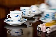 Delft cups for tea, Vietnam, Asia.