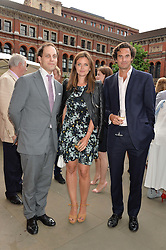 Left to right, LORD FREDERICK WINDSOR and RUPERT & LADY NATASHA FINCH at the V&A Summer Party in association with Harrod's held at The V&A Museum, London on 22nd June 2016.