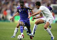 Fotball<br /> EM-kvalifisering<br /> 06.09.2006<br /> Frankrike v Italia <br /> Foto: Dppi/Digitalsport<br /> NORWAY ONLY<br /> <br /> LOUIS SAHA (FRA) / FABIO GROSSO (ITA)