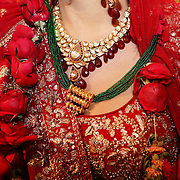 New Delhi, India, January 21, 2011. Marriage of Sumedha and Sapan. The necklace, symbol of the wedding's union.