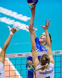 22-08-2017 NED: World Qualifications Slovenia - Bulgaria, Rotterdam<br /> Bulgaria win 3-1 against Slovenia / Lana Scuka #14 of Slovenia<br /> Photo by Ronald Hoogendoorn / Sportida