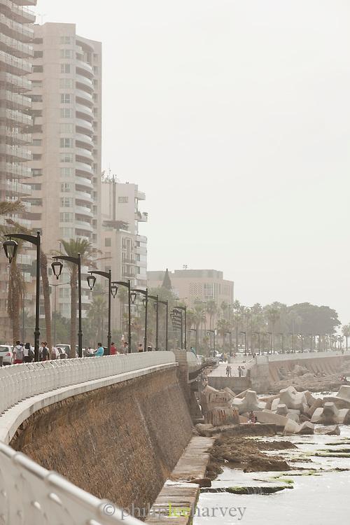 The Corniche promenade in Beirut, Lebanon