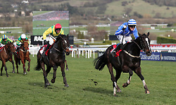 Penhill ridden by Paul Townend go on to win the Sun Bets StayersÕ Hurdle during St Patrick's Thursday of the 2018 Cheltenham Festival at Cheltenham Racecourse.