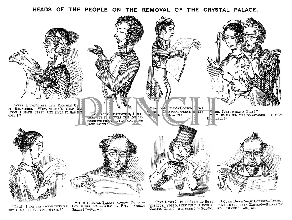 Heads of the People on the Removal of the Crystal Palace.