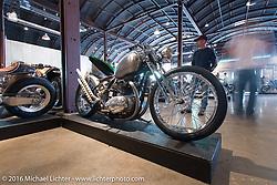 Josh Allison's (Colorado) 1969 BSA Thunderbolt bobber on Saturday in the Handbuilt Motorcycle Show. Austin, TX, USA. April 9, 2016.  Photography ©2016 Michael Lichter.