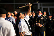 EKU ROTC Cadet and member of EKU's chapter of Pershing Rifles Adam Renn performs before a crowd during a Veterans Day ceremony at Eastern Kentucky University, Saturday, November 10, 2012. Photo by Chris Radcliffe