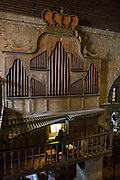 The Las Pinas Bamboo Organ in St. Joseph Parish Church in Las Piñas City, the Philippines. The unique organ was declared a National Cultural Treasure in 2003.
