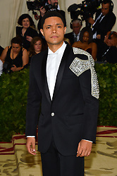 Trevor Noah attending the Costume Institute Benefit at The Metropolitan Museum of Art celebrating the opening of Heavenly Bodies: Fashion and the Catholic Imagination. The Metropolitan Museum of Art, New York City, New York, May 7, 2018. Photo by Lionel Hahn/ABACAPRESS.COM