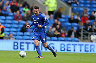 Sean Morrison of Cardiff City in action. EFL Skybet championship match, Cardiff city v Derby County at the Cardiff city stadium in Cardiff, South Wales on Saturday 30th September 2017.<br /> pic by Andrew Orchard, Andrew Orchard sports photography.