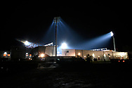 General view outside a floodlit Vitality Stadium before the Premier League match between Bournemouth and Huddersfield Town at the Vitality Stadium, Bournemouth, England on 4 December 2018.