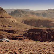 4WD in Tizi-n-Tazazert mountain pass, Tizi-n-Tazazert mountain pass, Morocco (November 2006)