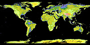 NASA and Japan's Ministry of Economy, Trade and Industry's Advanced Spaceborne Thermal Emission and Reflection Radiometer (ASTER) Global Digital Elevation Model (GDEM) of the world on June 29, 2009.  Science Earth Geology