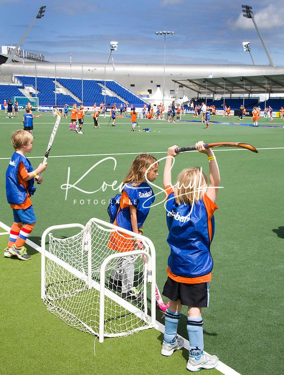 DEN HAAG - Rabobank Kidsday. tijdens World Cup Hockey 2014 . FOTO KOEN SUYK