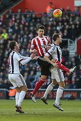 Jose Fonte of Southampton heads the ball - Mandatory by-line: Jason Brown/JMP - 07966386802 - 16/01/2016 - FOOTBALL - Southampton, St Mary's Stadium - Southampton v West Bromwich Albion - Barclays Premier League