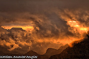 Grand Canyon Clouds at Sunrise.