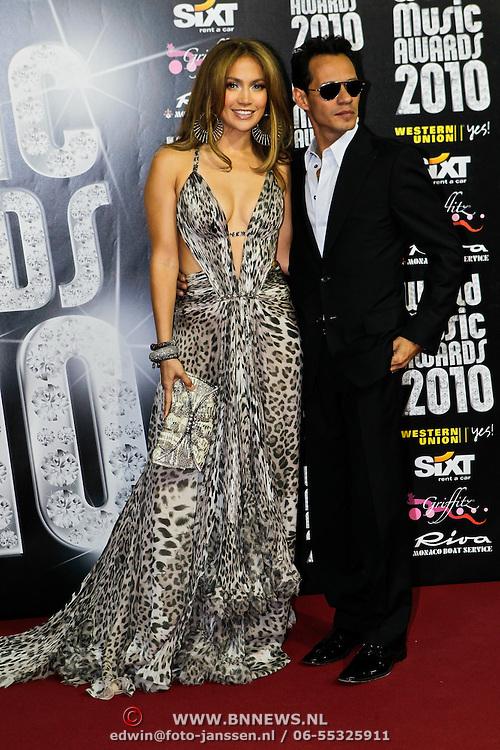 MON/Monte Carlo/20100512 - World Music Awards 2010, Jennifer Lopez en Marc Anthony