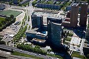Nederland, Noord-Holland, Amsterdam, 12-05-2009; Zuidas met hoofdkantoor van ABN-AMRO en Gershwin (onderdeel Amsterdam Symphony).Swart collectie, luchtfoto (toeslag); Swart Collection, aerial photo (additional fee required).foto Siebe Swart / photo Siebe Swart
