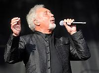 tom jones  live  at the  V Festival 2012  held at Hylands Park,Chelmsford  -  Essex, England - 19.08.12