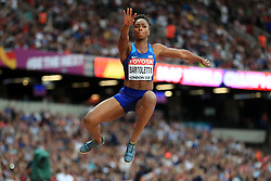 USA's Tianna Bartoletta competes in the women's long jump final during day eight of the 2017 IAAF World Championships at the London Stadium. PRESS ASSOCIATION Photo. Picture date: Friday August 11, 2017. See PA story ATHLETICS World. Photo credit should read: Adam Davy/PA Wire. RESTRICTIONS: Editorial use only. No transmission of sound or moving images and no video simulation.