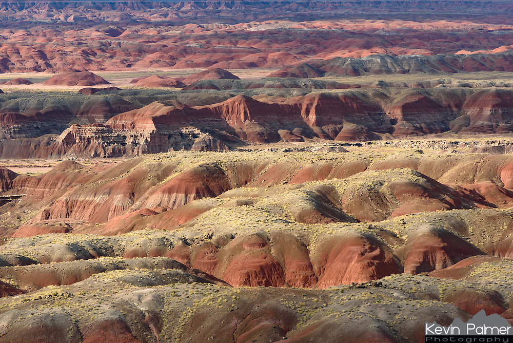 Multicolored badlands cover the northern portion of Petrified Forest National Park.