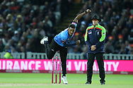 Sussex's Chris Jordan during the final of the Vitality T20 Finals Day 2018 match between Worcestershire rapids and Sussex Sharks at Edgbaston, Birmingham, United Kingdom on 15 September 2018.