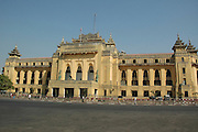 Yangon Myanmar an old British colonial building  now the city Hall