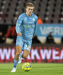 Mathias Greve (Randers FC) under kampen i 3F Superligaen mellem FC Nordsjælland og Randers FC den 19. oktober 2020 i Right to Dream Park, Farum (Foto: Claus Birch).