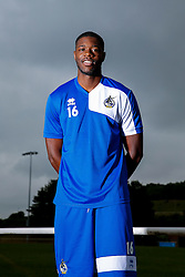Nathan Blissett poses for a portrait as Bristol Rovers return to training ahead of their 2015/16 Sky Bet League Two campaign - Photo mandatory by-line: Rogan Thomson/JMP - 07966 386802 - 02/07/2015 - SPORT - Football - Bristol, England - The Lawns Training Ground, Henbury - Sky Bet League Two.