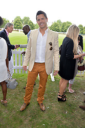 JEREMY EDWARDS at the Flannels for Heroes Cricket tournament in association with Dockers in aid of the charities Walking With The Wounded, On Course Foundation and Combat Stress held at Burton Court, London on 20th June 2014.