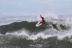 Michel Bourez of Tahiti advances in 2nd to round 4 from round 3 heat 4 of the Hawaiian Pro at Haleiwa, Oahu, Hawaii, USA
