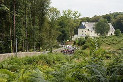 The peloton approach at Grand Prix de Plouay Lorient Agglomération a 121.5 km road race in Plouay, France on August 26, 2017. (Photo by Sean Robinson/Velofocus)