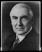 Portrait of President Warren Harding. 29th President of the United States. Harding protected alcohol interests and moderately supported women's suffrage. Unknown