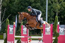 De Boer Lennard, NED, Lukas Nita<br /> Nationaal Kampioenschap KWPN<br /> 4 jarigen springen final<br /> Stal Tops - Valkenswaard 2020<br /> © Hippo Foto - Dirk Caremans<br /> 19/08/2020