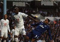 Photo: Tony Oudot.<br /> Tottenham Hotspur v Everton. The Barclays Premiership. 14/08/2007.<br /> Joleon Lescott scoresl for Everton