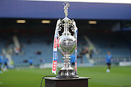The EFL Championship Trophy during the EFL Sky Bet Championship match between Queens Park Rangers and Brighton and Hove Albion at the Loftus Road Stadium, London, England on 7 April 2017.