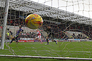 Chris Burke of Rotherham United scores to go1-0 up during the Sky Bet Championship match between Rotherham United and Charlton Athletic at the New York Stadium, Rotherham, England on 30 January 2016. Photo by Ian Lyall.