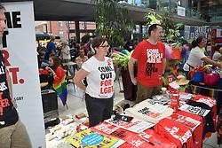 Norwich Pride, 28 July 2018 UK - Stonewall stall