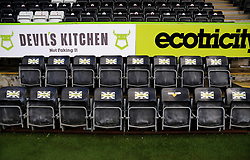 Home side seating- Mandatory by-line: Nizaam Jones/JMP - 16/01/2021 - FOOTBALL - innocent New Lawn Stadium - Nailsworth, England - Forest Green Rovers v Port Vale - Sky Bet League Two
