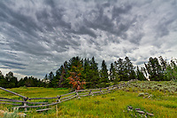 Cloudy skies near Last Chance Idaho and the Henry's Fork River.