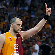 Galatasaray's Ermal KURTOGLU during their Turkish Basketball league Play Off Final third leg match Galatasaray between Fenerbahce Ulker at the Abdi Ipekci Arena in Istanbul Turkey on Thursday 09 June 2011. Photo by TURKPIX