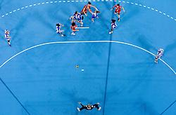 Players during handball match between RK Krim Mercator and Buducnost Podgorica (MNE) in season 2011/2012 of EHF Women's Champions League, on February 24, 2012 in Arena Stozice, Ljubljana, Slovenia. Buducnost defeated Krim 27-26. (Photo By Vid Ponikvar / Sportida.com)