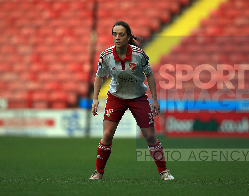 Sheffield United Ladies' Cara Hopkinson in action during the FA Women's Cup First Round match at Bramall Lane Stadium, Sheffield. Picture date: December 4th, 2016. Pic Clint Hughes/Sportimage