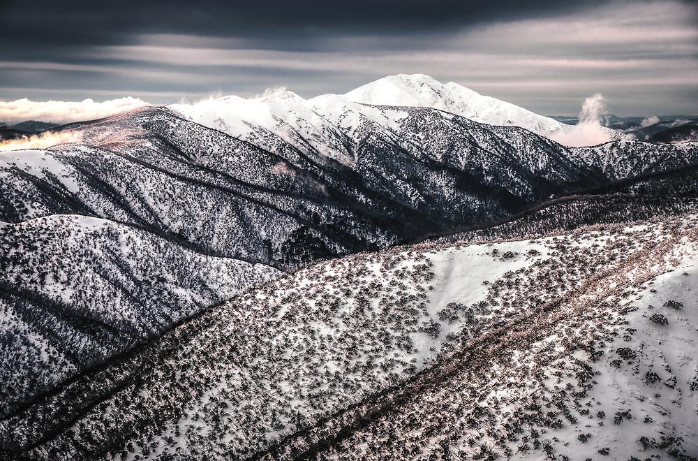 Mount Feathertop in Australian Alps, Victoria