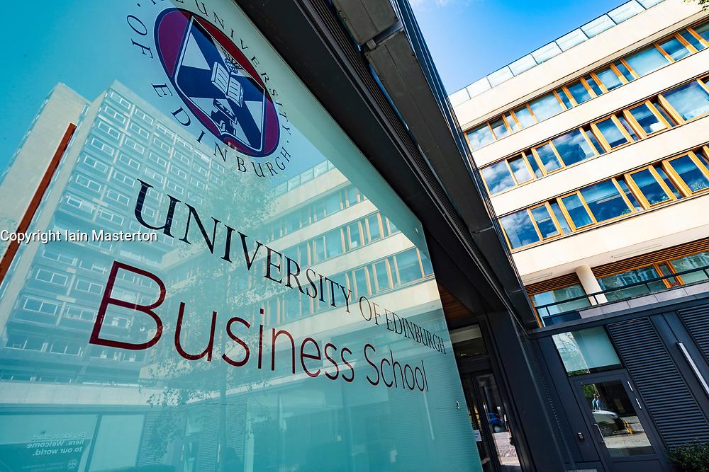 Business school exterior at University of Edinburgh in Old Town , Scotland, UK