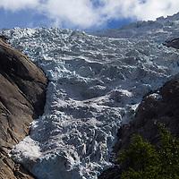 Europe, Norway, Olden. Briksdal Glacier.