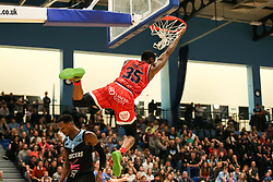 Fred Thomas of Bristol Flyers scores with a dunk - Photo mandatory by-line: Arron Gent/JMP - 28/04/2019 - BASKETBALL - Surrey Sports Park - Guildford, England - Surrey Scorchers v Bristol Flyers - British Basketball League Championship