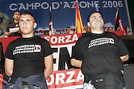 Campo d'Azione 2006 di Forza Nuova a Marta (VT).Intervento di un leader spagnolo di Democracia Nacional meeting of forza nuova, raduno forza nuova