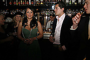 Martine McCutcheon, Edward Taylor and Archie Soames, Spring party at Frankie Dettori's bar and Grill. 3 Yeoman's Row. London sw3. 10 April 2006. ONE TIME USE ONLY - DO NOT ARCHIVE  © Copyright Photograph by Dafydd Jones 66 Stockwell Park Rd. London SW9 0DA Tel 020 7733 0108 www.dafjones.com