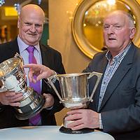 Past players for Ballyea Hurling Team Paddy Moloney and Martin Kinnane